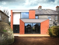 Two storey extension to redbrick house in Blackrock, Dublin
