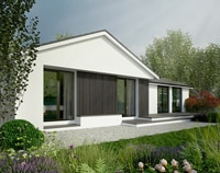 Transformation of a bungalow in a beautiful garden
